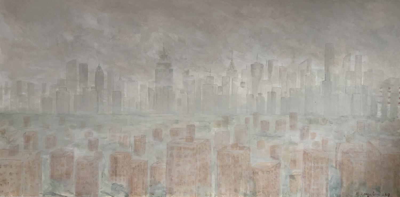 "Manhattan view - Oil on canvas - 40""x 30"""