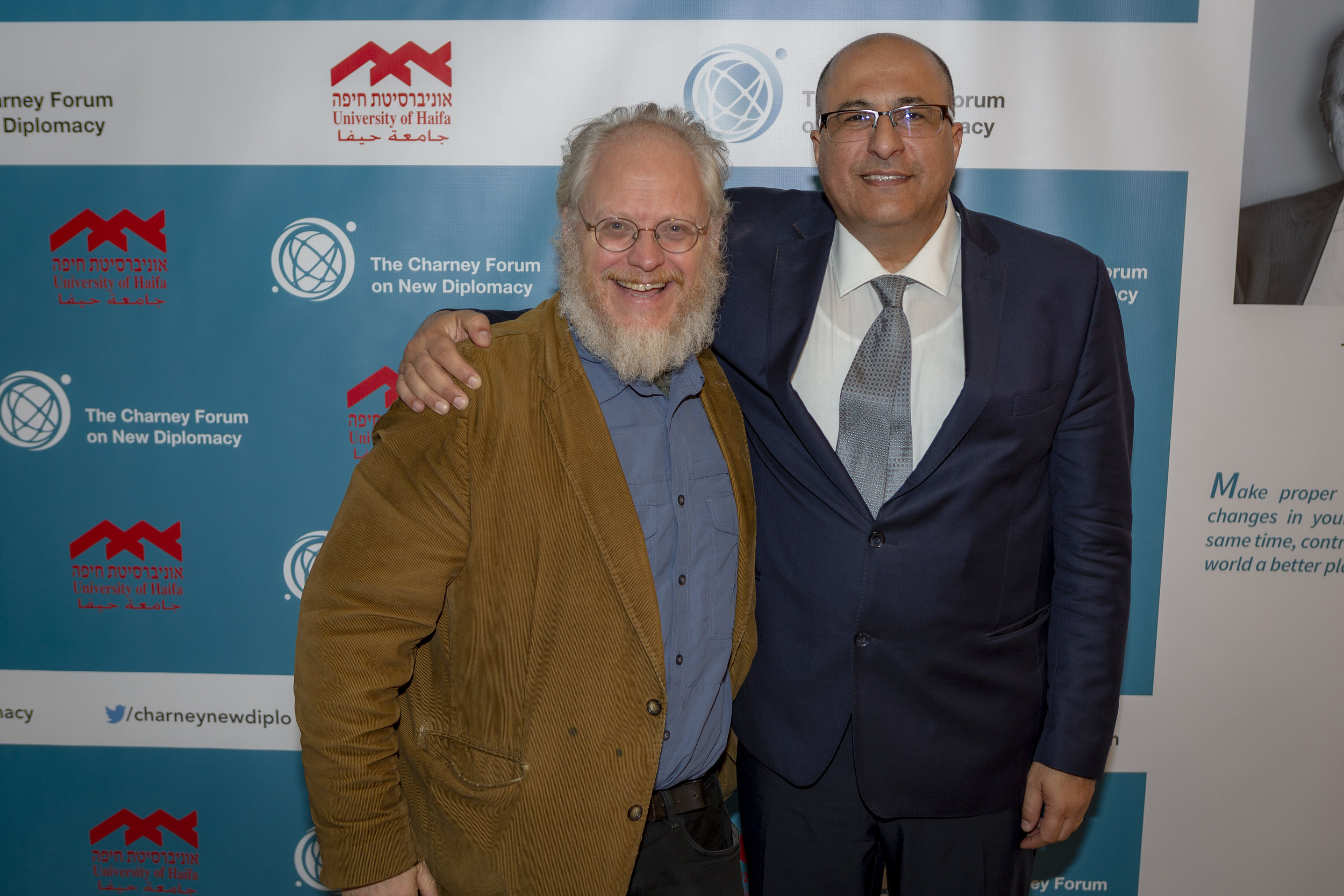 Professor Nick J. Cull and Ido Aharoni