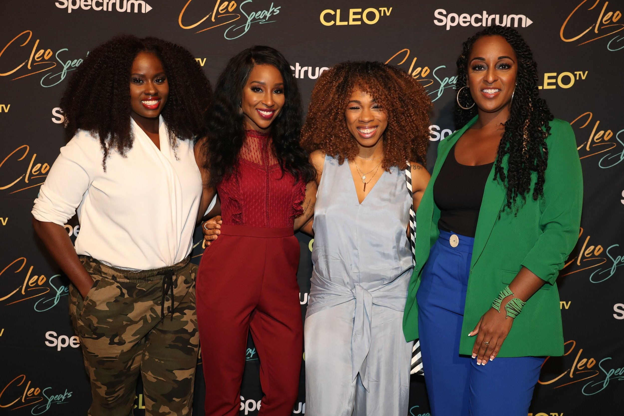 L-R: Author and CEO Charreah K. Jackson, Founder of    xoNecole.com    Necole Kane, Co-Host of Sway in the Morning and the evening's moderator Tracy Garraud, and The Griot Deputy Editor Natasha Alford kick off CLEO TV and Charter's inaugural CLEO SPEAKS Tour in NYC.