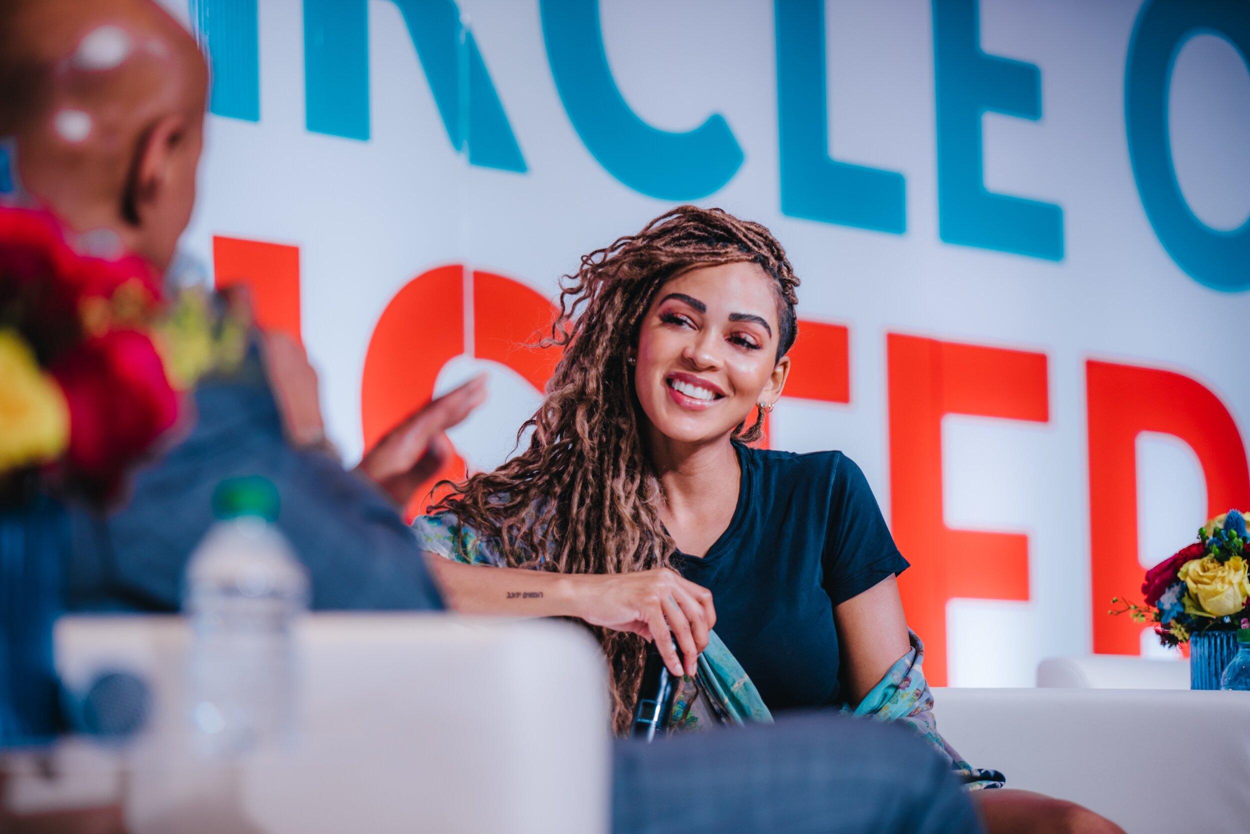 Meagan Good on stage photo credit Kadeem