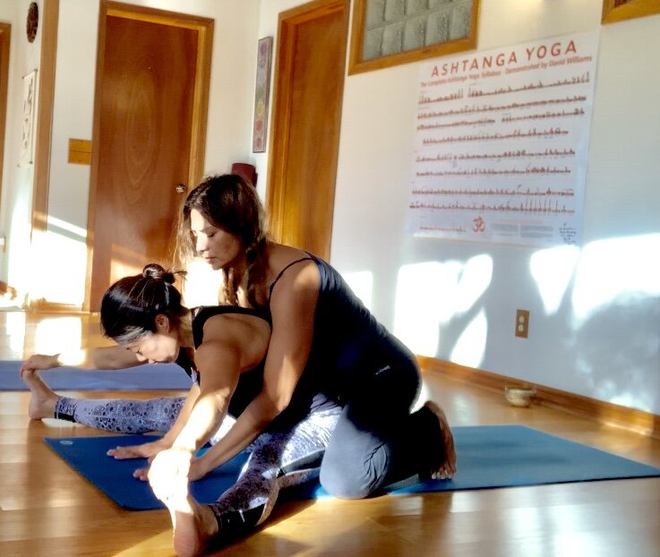 independent practice, one on one in a group setting. developing your personal practice - Monday/Tues/Wed/Thurs 6am - 8am . practice to complete by 755am, doors close 8amOne on one practice in a small group setting where a teacher is present to teach and guide your personalized self practice to show you the importance of correct breathing and movement of the body through the method of ashtanga vinyasa yoga at your pace. There will be safe, appropriate needed Assists, adjustments, modifications offered to all.Open to all, new and established practitioner. Beginners and advanced practitioners welcome. This is known as Mysore style where its basis is on building a relationship with a teacher to design you personal practice to fit your needs. The student will learn the system at his or her own pace with guidance and support. Rather than being led through the whole sequence, you will have the opportunity to learn the postures over time, cultivating a deeper understanding of its purpose, benefits through a consistent independent practice. New postures will be introduced as needed and appropriate gradually to meet your abilities, conditions and constitution. Your total class time will vary depending on your pace and the number of postures you have been taught to practice. It is not necessary to stay for the entire scheduled class. You may arrive between 6am - 650am to allow a good hour for yourself. As you grow your practice will be at about 60min - 90minHallmarks of this style of teaching include hands on assistance, adjustments, alignment, individualized instruction, and silent focus to encourage concentration, breathing , meditation, inspiration, and purification to ignite and inspire your day.