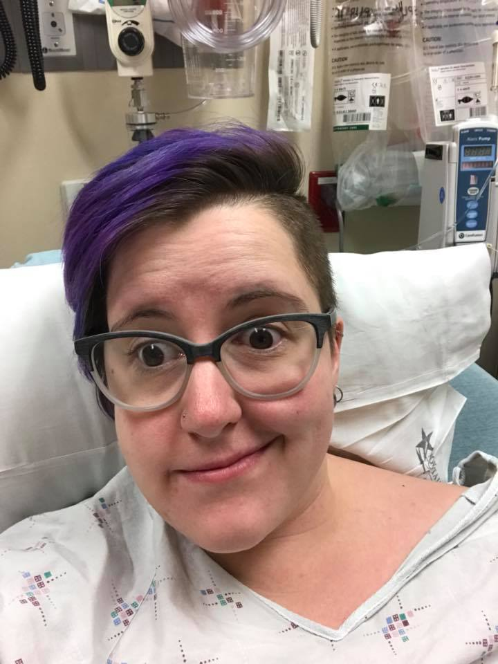 This is me pre-morphine, which MAY have been my first ever experience with strong pain killers. I could SMELL the color red. And yes, I did text the whole experience to my CPs, because RESEARCH!