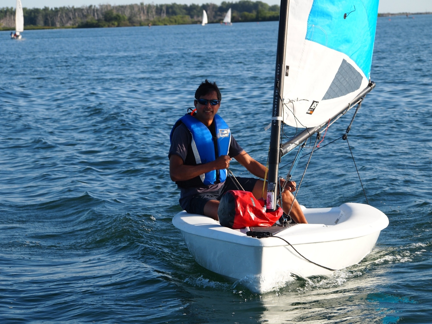 RS Neo single person sailboat - available for pay as you go sailing Toronto