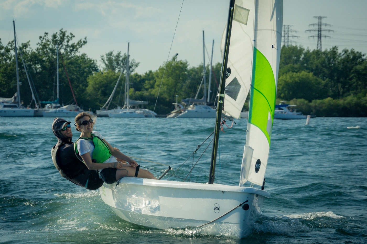 RS Quest two person sailboat - available for pay as you go rental in Toronto