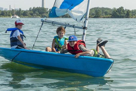 Fun swimming, sailing, rowing or windsurfing at Sailing Fanatics OHSF Water Sport Camp Toronto Outer Harbour