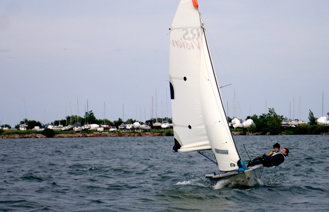 Sailing Fanatics under 18s advanced learn to sail program camp with spinnakers and trapeze fun and racing