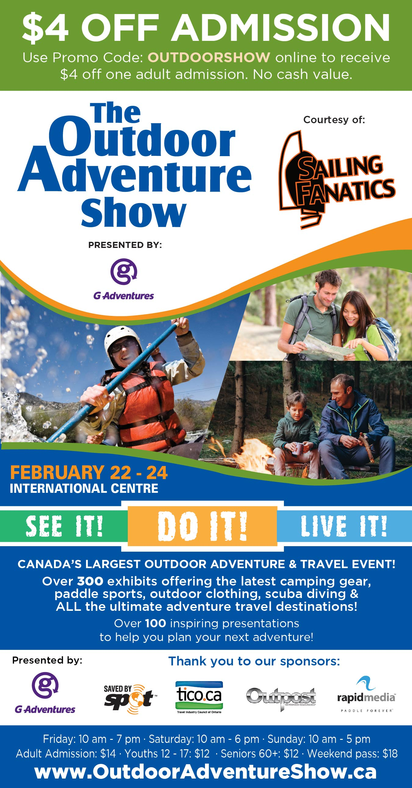 Talk to us at Sailing Fanatics at the Toronto Outdoor Adventure Show