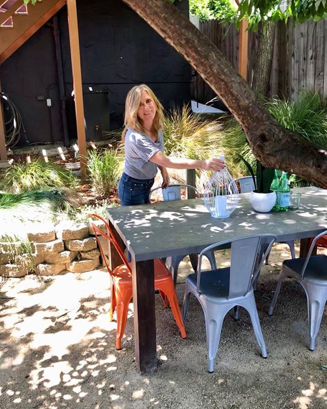 Al Fresco Dining area at my new listing. The sun is out and I am all ready for tomorrow's open house 2-4:30 #1820SanBenito #alfrescodining