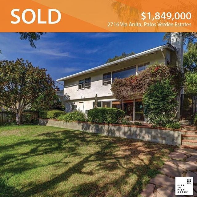 SOLD: 2716 Via Anita This lovely family home in the heart of one of the most coveted neighborhoods in PVE just sold to our buyers for $1,849,000. Make sure to check our next post out about the story behind this sale.