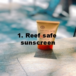 "1. Reef friendly sunscreen - Clothing is the safest and most eco-friendly way to protect from the sun. Before your guests arrive, remind them to pack rash guards, long sleeves, long pants, and big hats. As a second line of defense, recommend they bring mineral-based sunscreens, or provide it complimentary.When choosing a sunscreen, guests and crew should check the ""active ingredients"" label for two things:1) They should include only the minerals zinc oxide and/or titanium dioxide2) These minerals should be non-nano.Sunscreen chemicals oxybenzone and octinoxate have been widely studied and linked to coral damage, even in small concentrations. Some governments are even passing legislation to ban their sale. Chemicals like octocrylene, homosalate, and octisalate might also be harmful, but they need further studying. The National Parks Service notes, ""While no sunscreen has been proven to be completely 'reef-friendly,' those with titanium oxide or zinc oxide, which are natural mineral ingredients, have not been found harmful to corals."" Know that the term ""reef safe"" isn't federally regulated, so you can't rely on that label as an indicator. Avoid that ""greenwashing"" trap.It is estimated that 90% of snorkeling/diving tourists are concentrated on 10% of the world's reefs, so our most popular reefs are exposed to the majority of sunscreens (see this mention of Trunk Bay). While climate change, marine pollutants, overfishing, boat groundings, and disease are, on a whole, much bigger factors to coral reef health, the highly visited reefs of the Virgin Islands are among those most vulnerable to the effects of sunscreens. We can help change that."