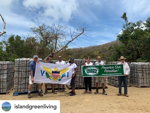 We 💚 this recycling success story by  @islandgreenliving. Posted @withrepost • Yesterday we were able to ship over 400,000 aluminum cans off the island to be recycled! Thankful to have so many people volunteering their services to achieve a common goal- from sorters and can crushers, to Michael Marsh donating use of his truck, and the Norma H barge donating a trip to PR, the community really came together on this one!  #StJohnCanRecycle