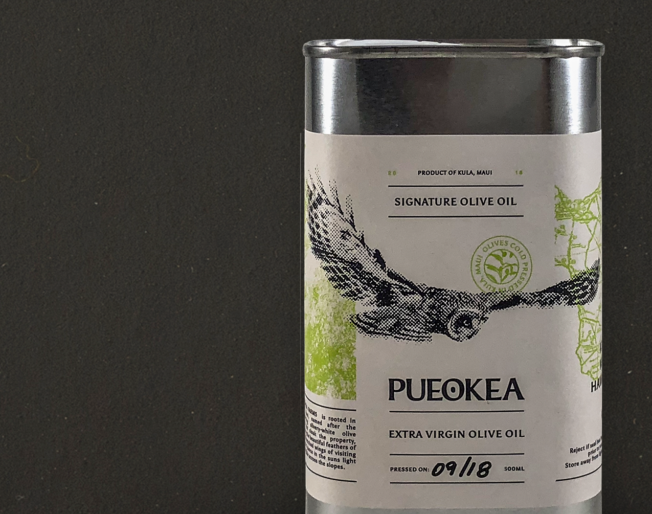 500mL - PueoKea's original, signature olive oil. Unflavored, cold-pressed.100% Extra Virgin