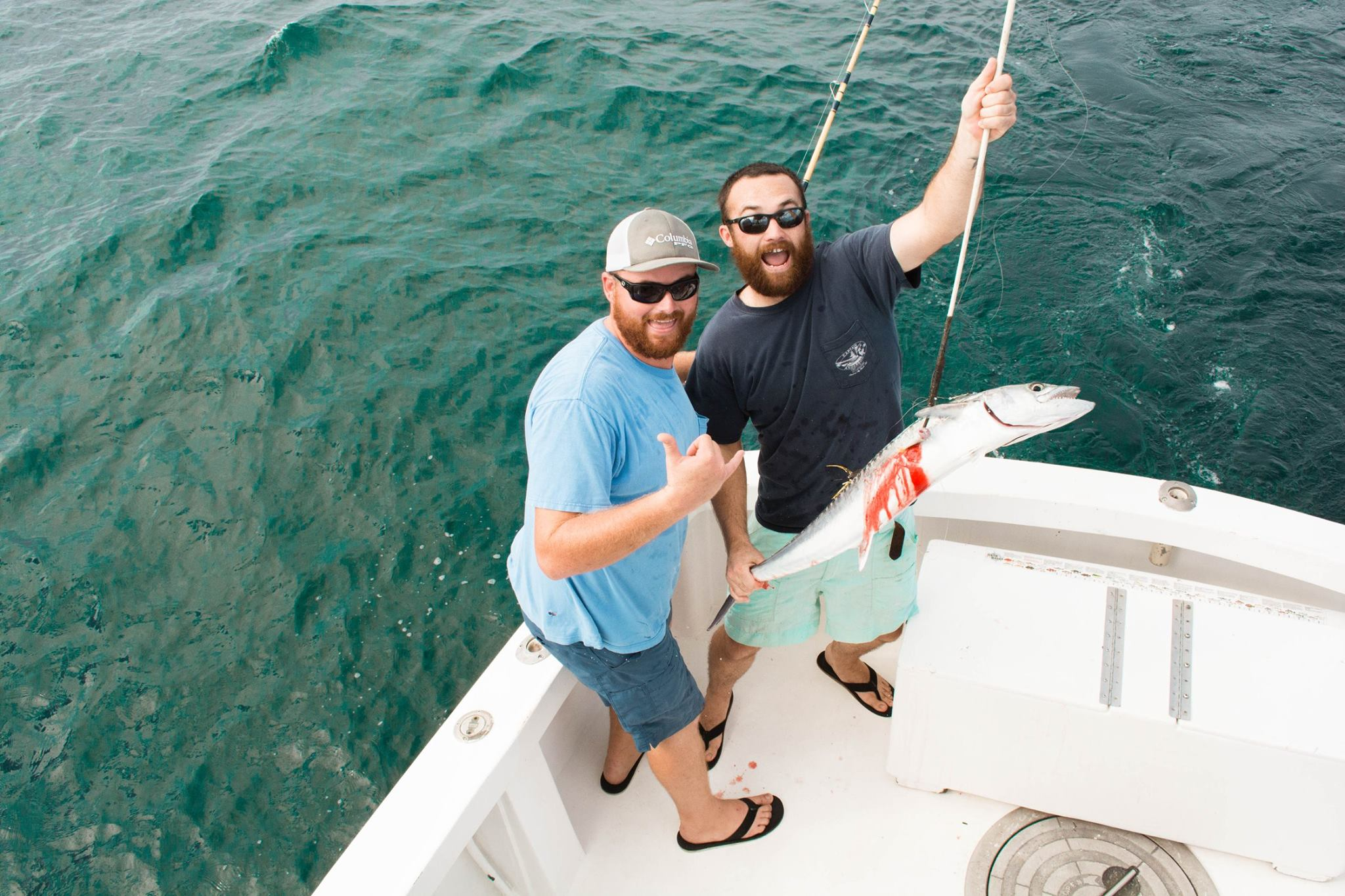 "Trolling - ""Well, Dale, they arewhat's called a trophy fish…"" Kidding ; )Trolling for King and Spanish Mackerel is one of our favorite past times. A more relaxed vibe, it's perfect for families with kids or those that aren't quite ready to commit to a full day on the water."