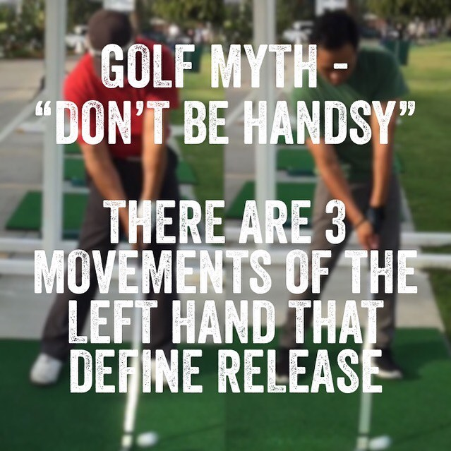 """Golfers talk about a """"release"""" and also talk about not being """"handsy"""". The release is a movement of the hands before, during and after impact! Of course you're confused! We have slow motion video of the top players in the world and yet we still can't come to an agreement on a very specific and clearly defined definition of the release. Even Phil Michelson says """"hinge and hold"""" If you hinge and never unhinge, the club will never touch the ball. Try it yourself. Once you find out EXACTLY what the exact definition of the """"release"""" is you'll play your best golf with total confidence. #golf #golfer #golfing #golfcourse #golfcode360 #golfcode360studio #golfgirl #thankful #thinking #big #dream #big #nevergiveup #orange #county #southern #california #losangeles #instagram #instagood #instadaily #instalike #success #succeed #successful #biomechanics"""