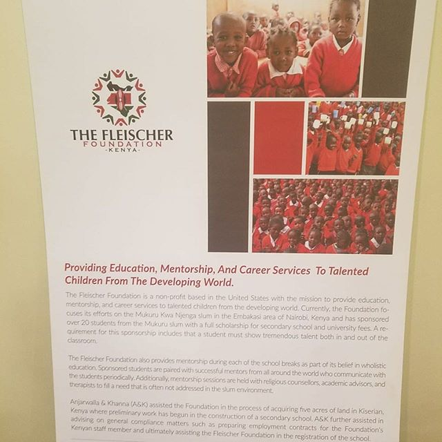We are very grateful for the support of Anjarwalla & Khanna, the leading corporate law firm in East Africa, for representing our charity pro-bono.  Even more, they have displayed an informational banner about our good works in their waiting room.  A big thanks to the pro bono committee at A&K for their gratitude and kindness! https://www.africalegalnetwork.com/wp-content/uploads/sites/22/2018/11/Pro-Bono-CSR-2017-2018-Report.pdf.