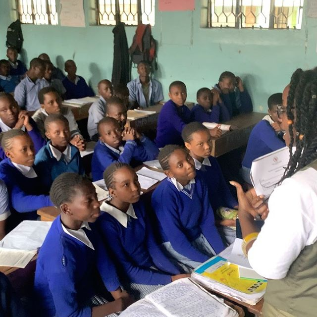 Yesterday, our team visited Kwa Njenga Primary School to explain to the 8th graders what was required of them to apply for The Fleischer Foundation sponsorship program.  The students were immediately engaged and inspired when they learned there was an opportunity for them to attain free high school and university education.  Good luck to all of the applicants on their upcoming KCPE exams!!