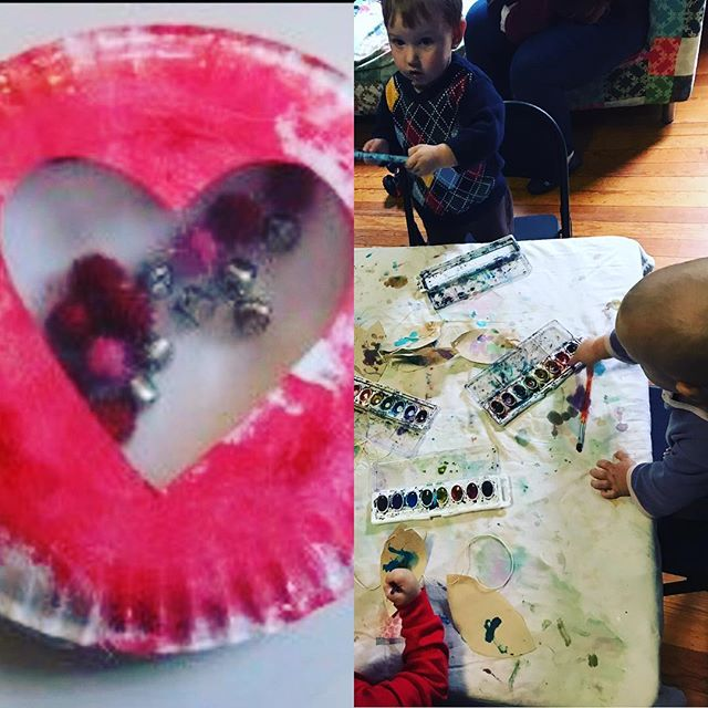 We'll be making sweet tambourines and exploring watercolors in Toddler Art today and tomorrow!  Join us! The fun stars at 10:30. #themorewegettogether #magicatmamaship