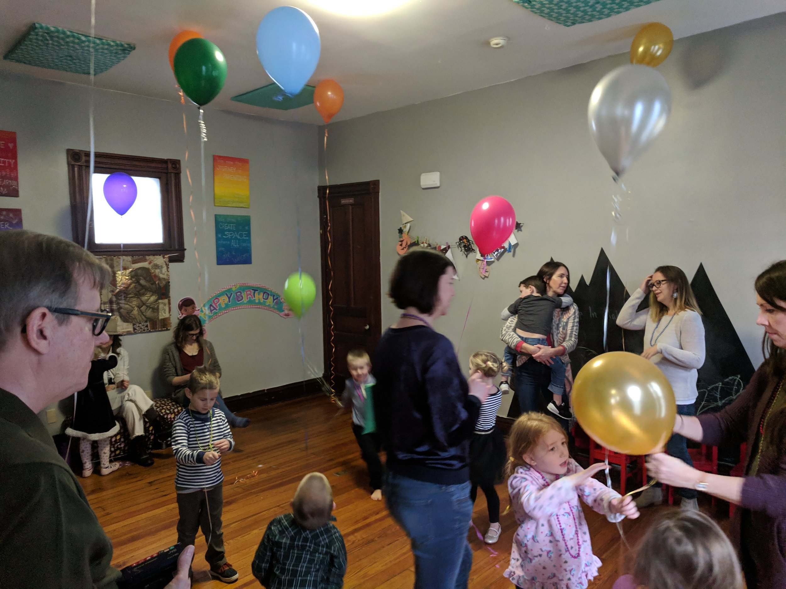 You can host a birthday party at Mama's Hip! - Our kid-friendly, fun space is the perfect place for your next celebration! Contact us at mamashipfamilycooperative@gmail.com to inquire about rates and book your date.