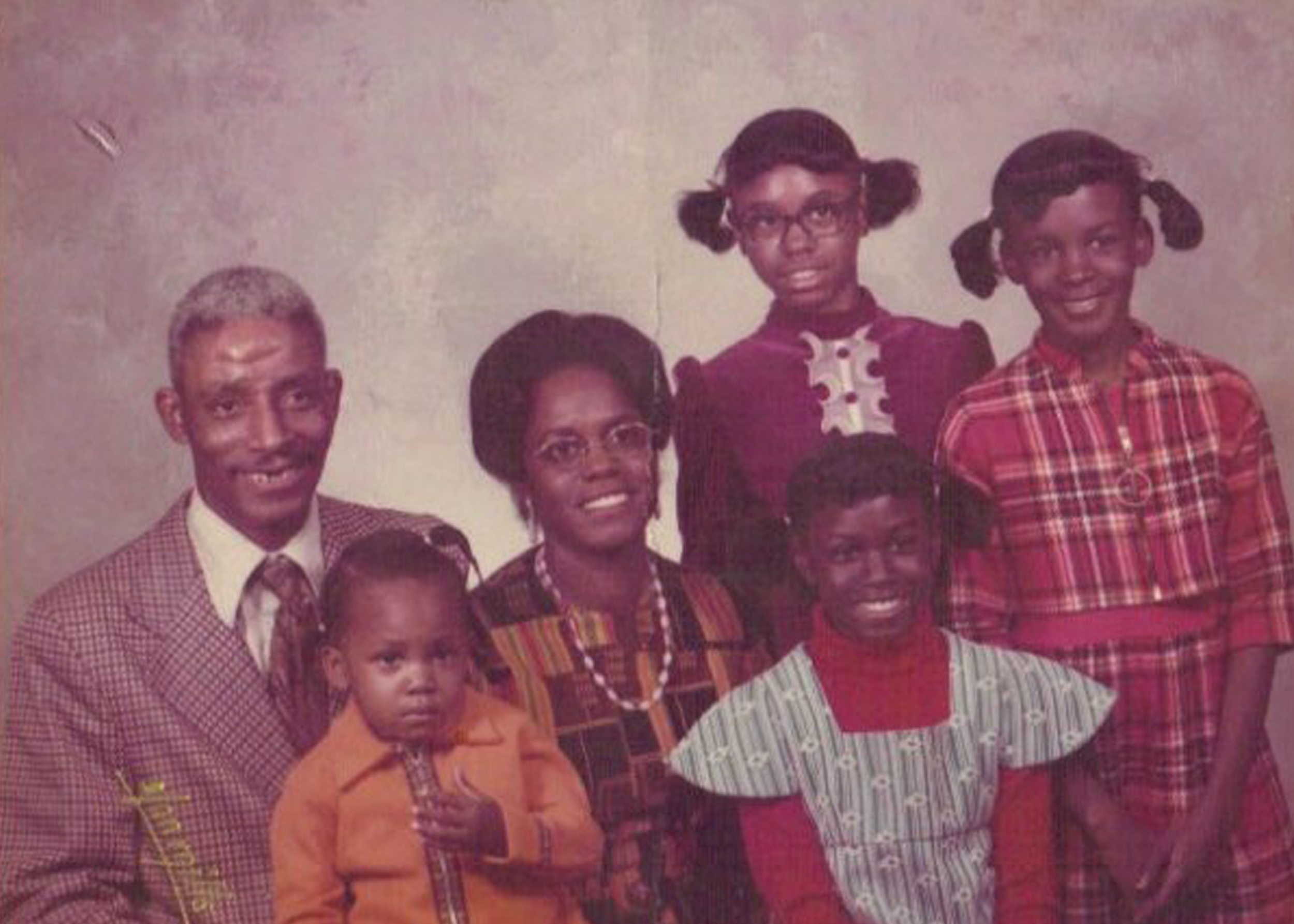 The Brown-Barnes family (circa 1975)