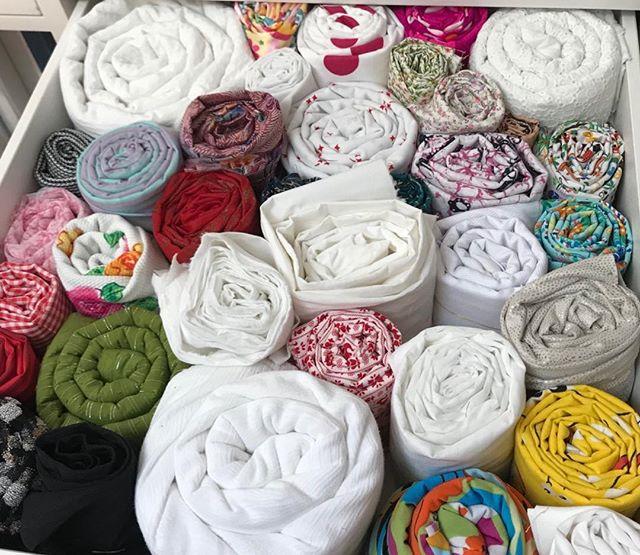 Great way to organize fabric! #fabric #sewing #sewinglessons #bayarea