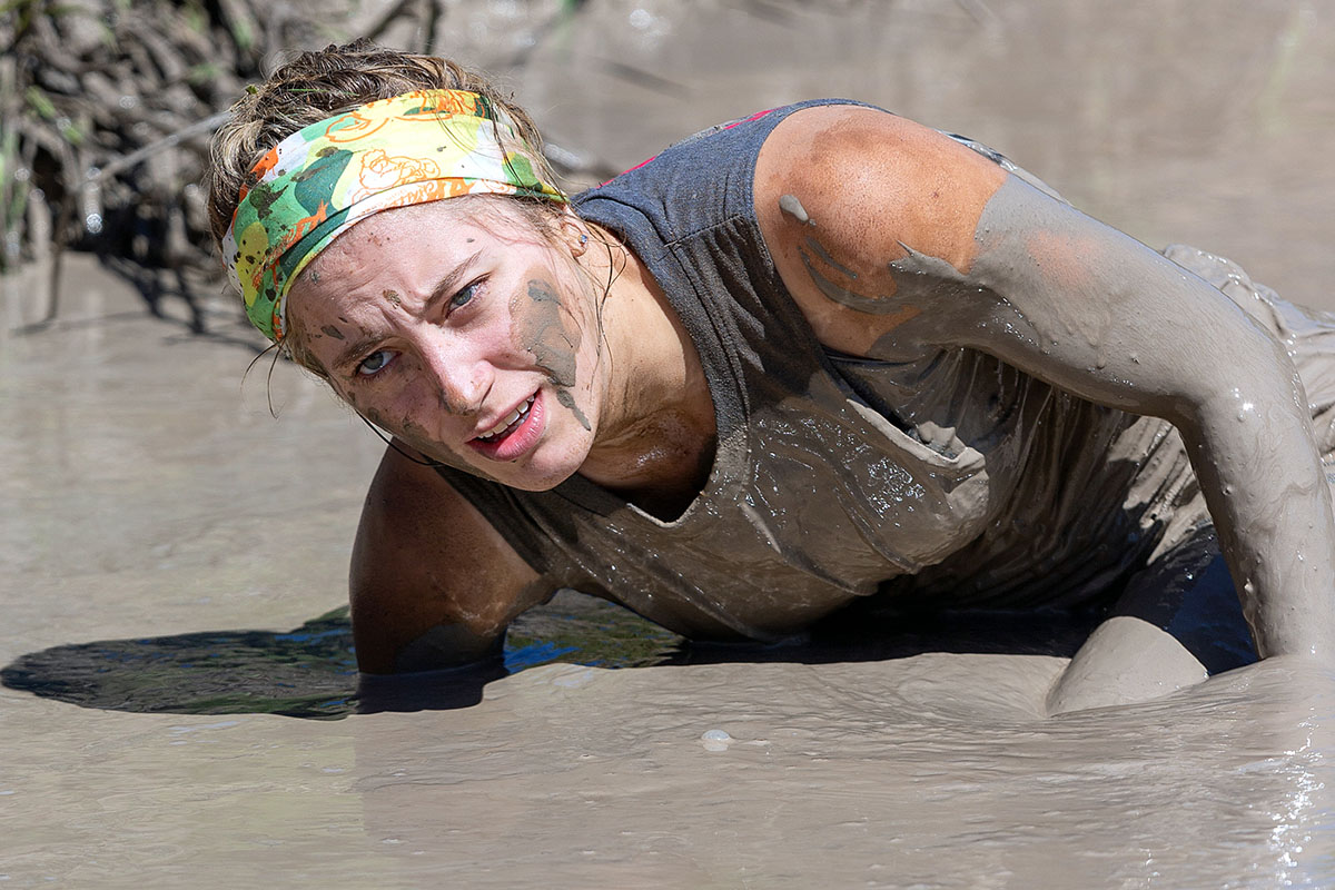 A competitor in the RAW Challenge at Numimbah Valley on Sunday 31st March. Looks like fun, eh!