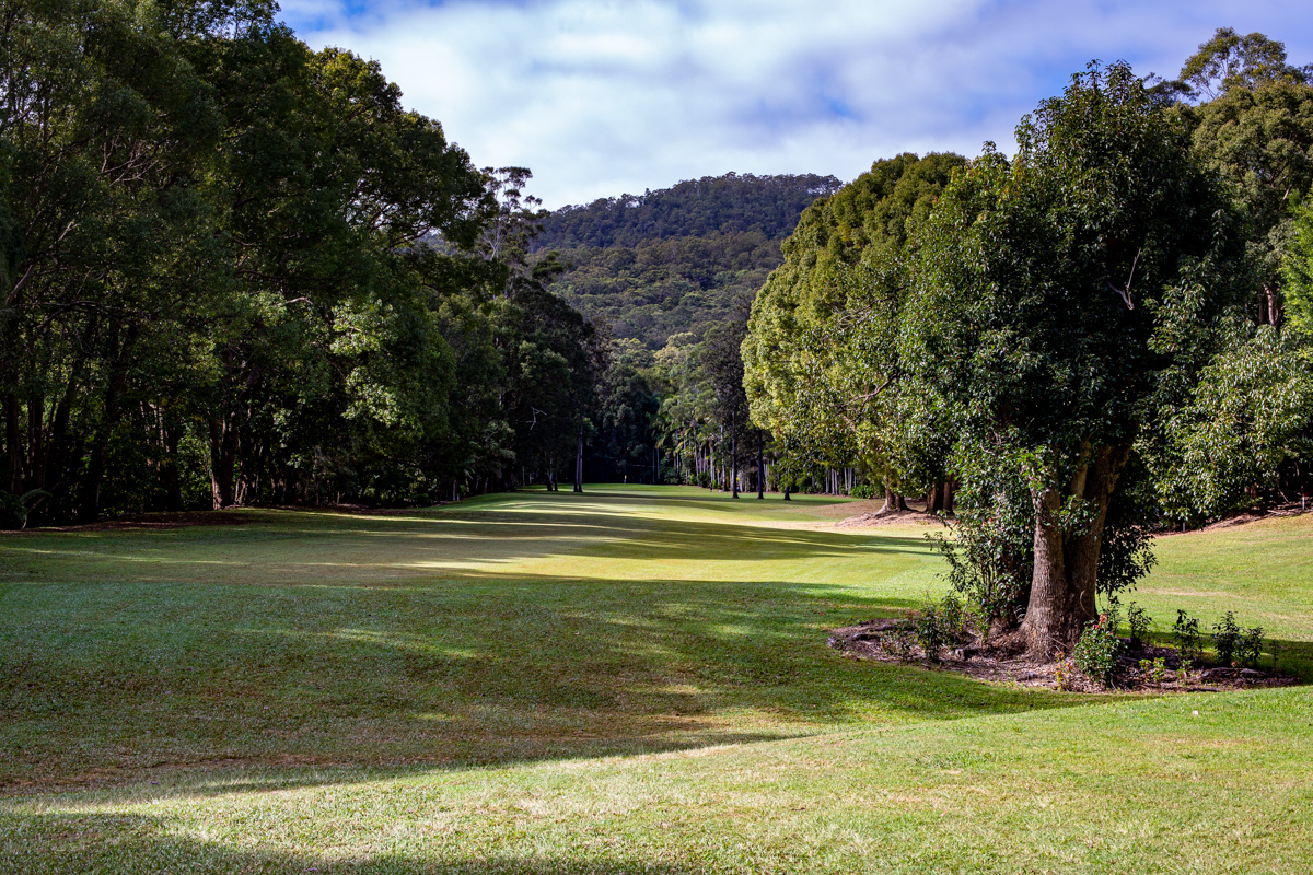 The 9th hole demands a very good tee shot to have any chance of making the green
