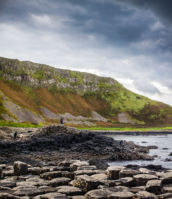 The Giant's Causeway near the Royal Portrush links