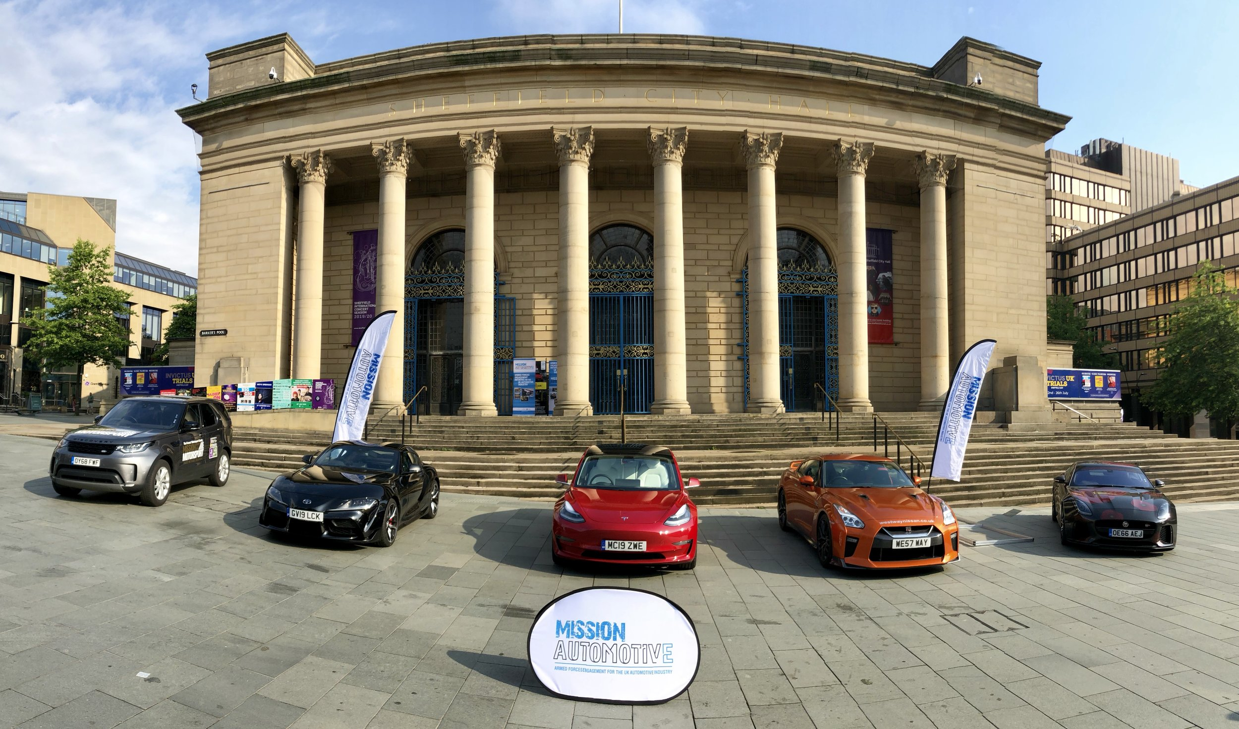 The calm before the storm - Invictus UK Trials CTP Job fair in the centre of Sheffield had a strong Mission Automotive theme for the 300+ service leavers attending