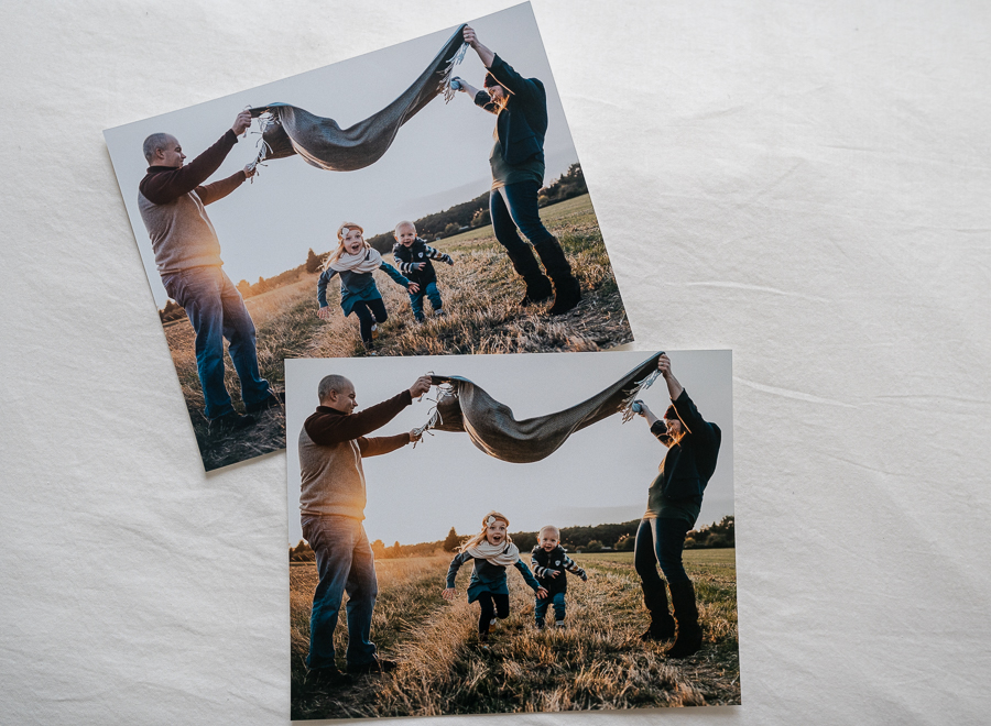 The bottom print was sharpened specifically for the size and paper type. Can you see the difference in color quality and clarity? The details are much more important in larger prints than they are for smaller prints. Printed by Mpix.