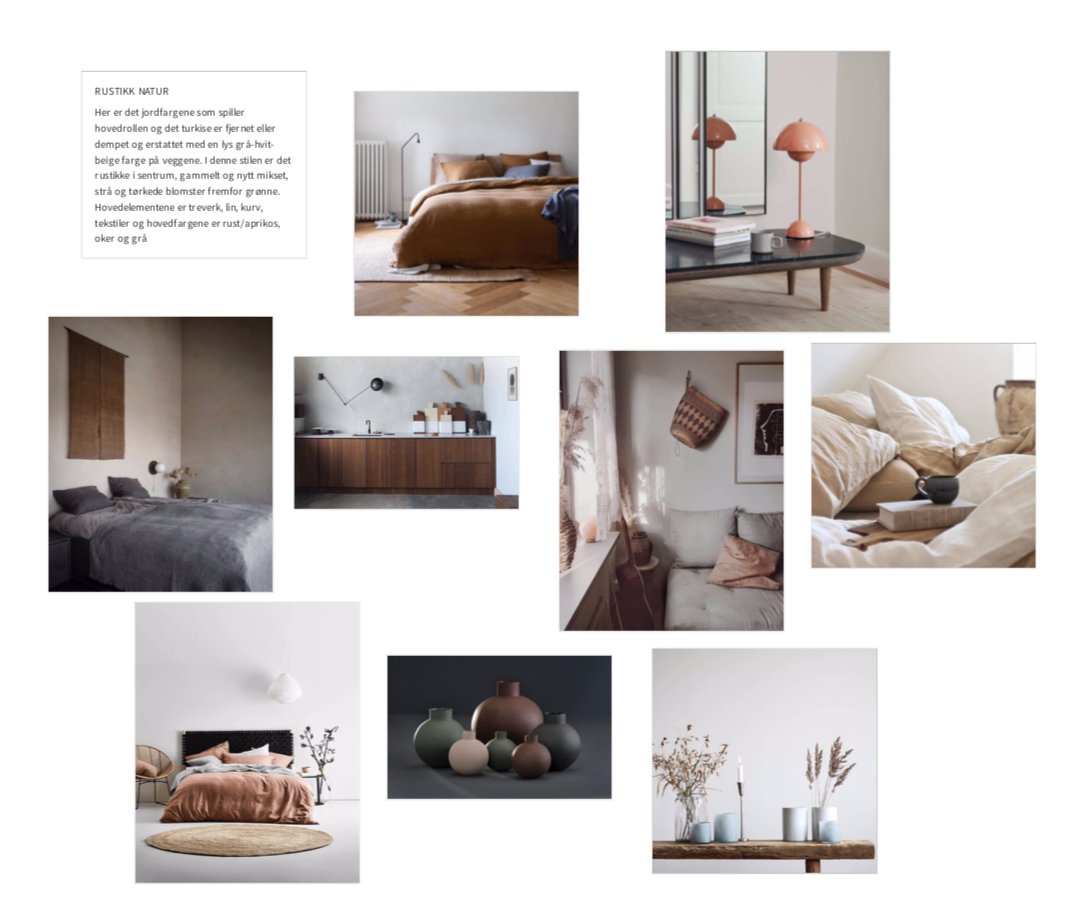 Work for private client (moodboard and interiorguide)