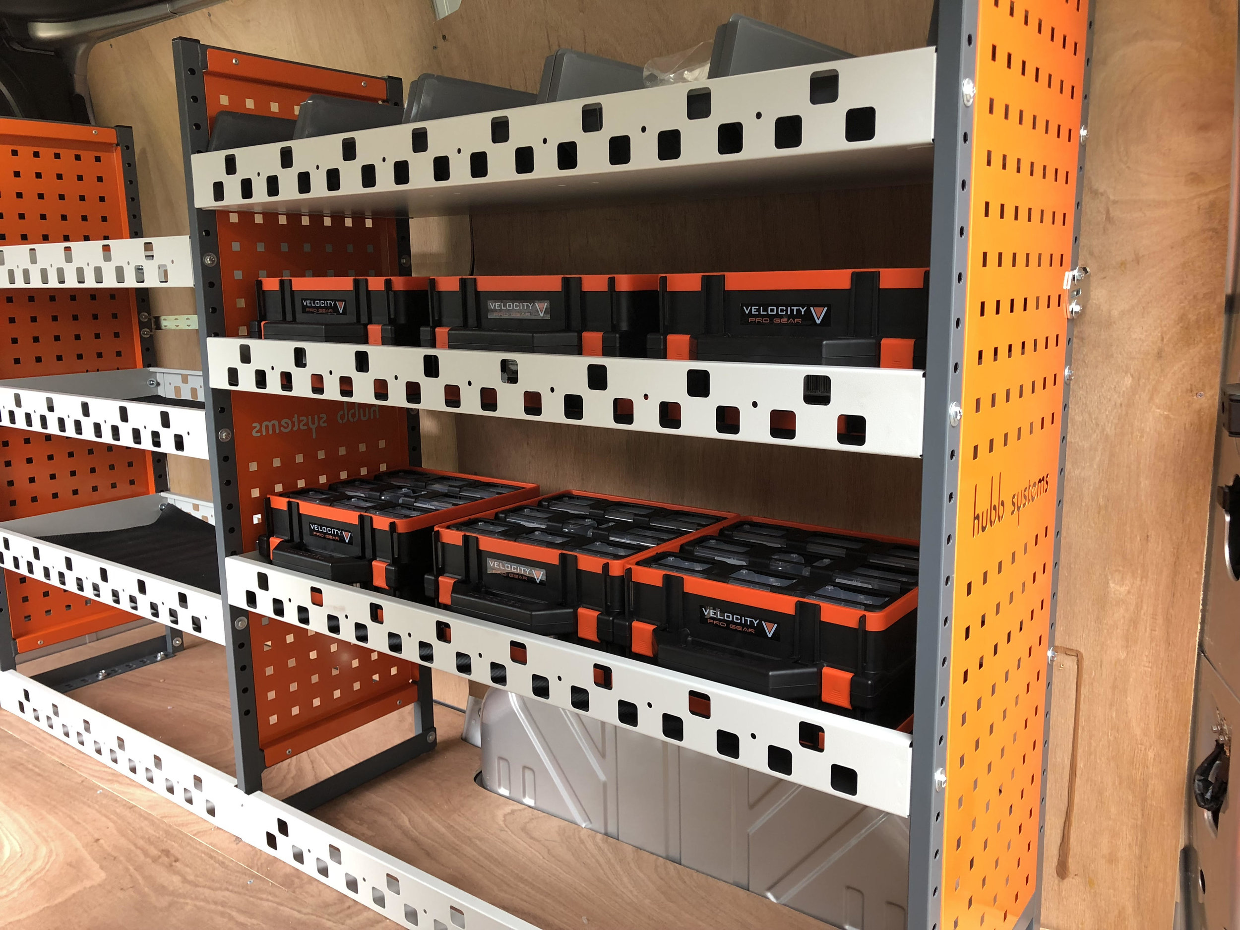 Hubb Systems Van Racking For A Nottinghamshire Electrical Company