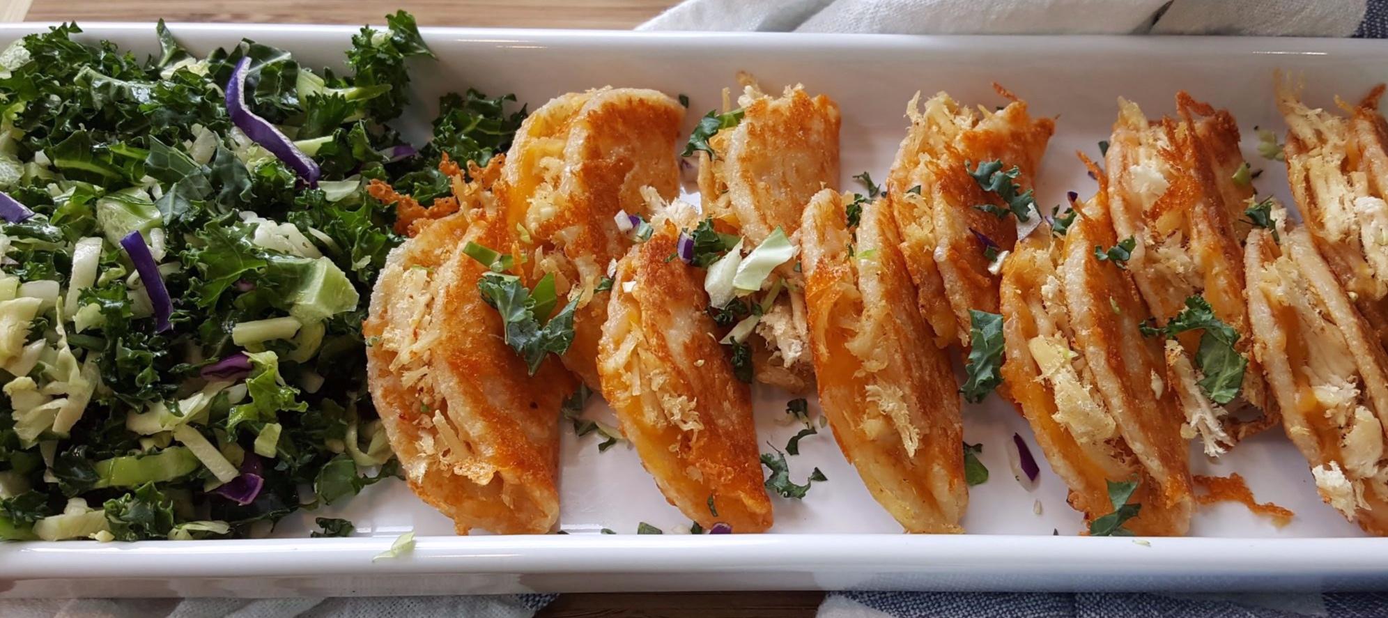 - Mini chicken soft tacos