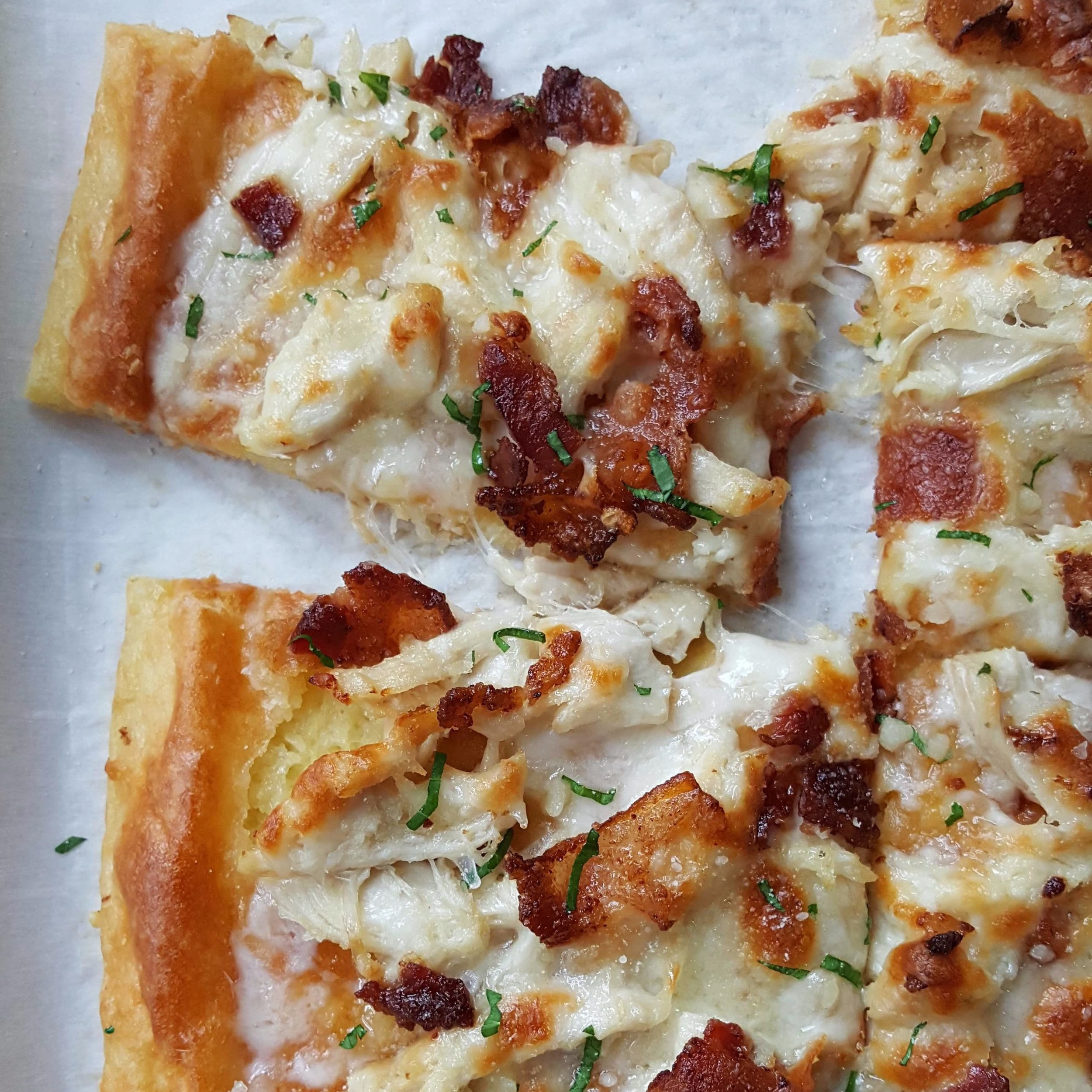 - chicken bacon ranch flatbread