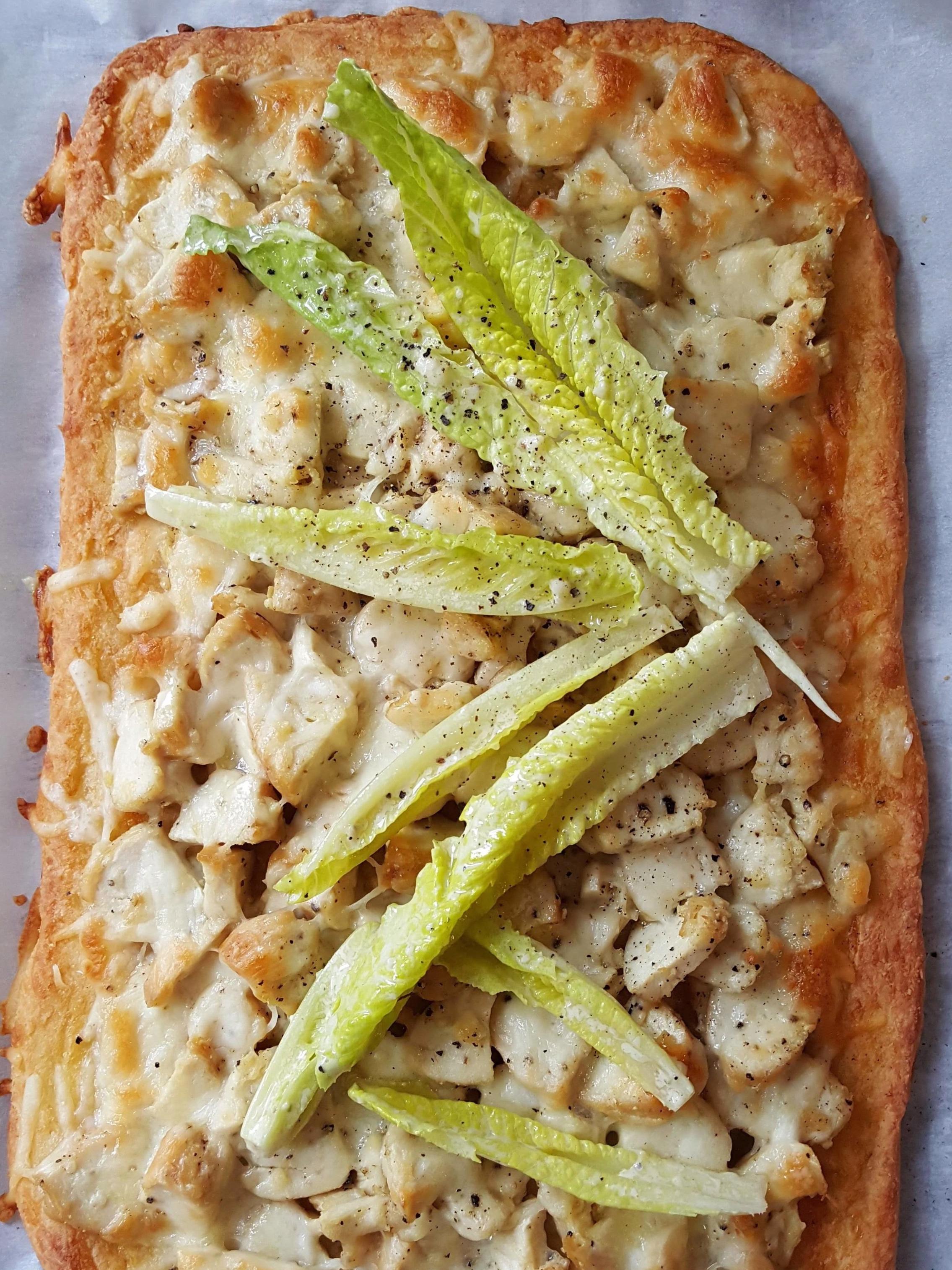 - chicken caesar flatbread