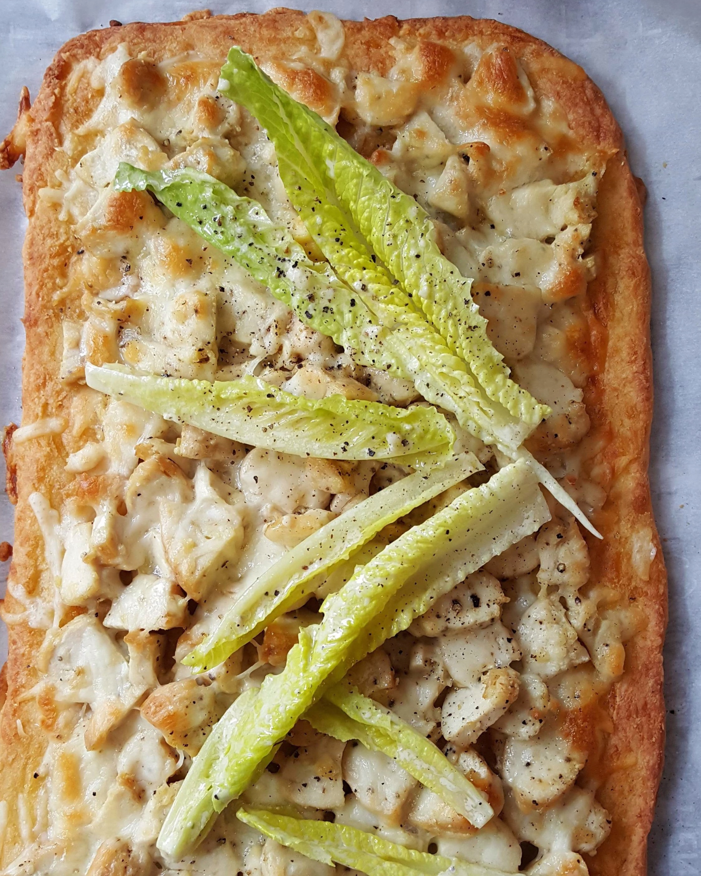 - chicken caesar flatbread