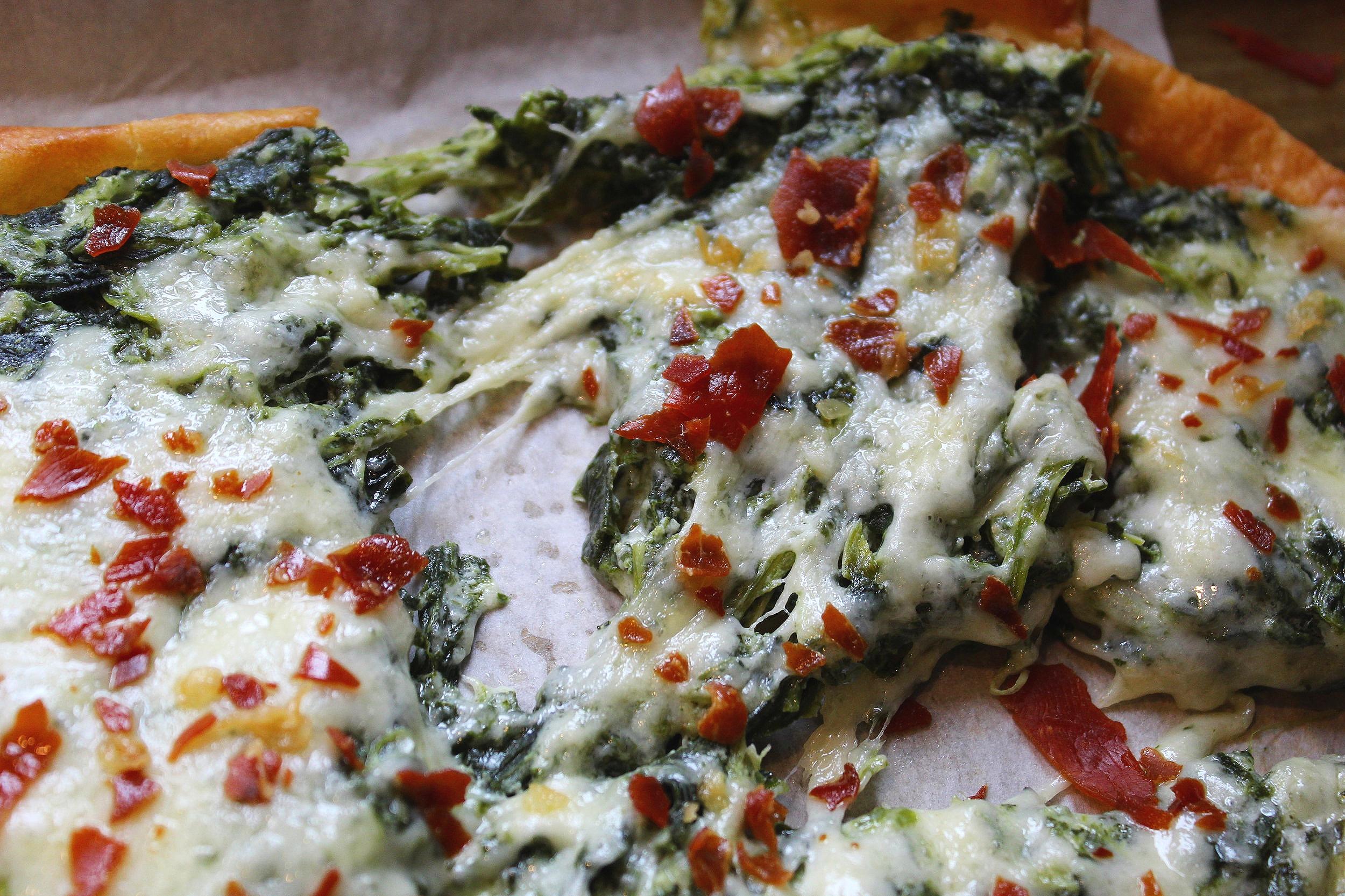 - spinach dip flatbread