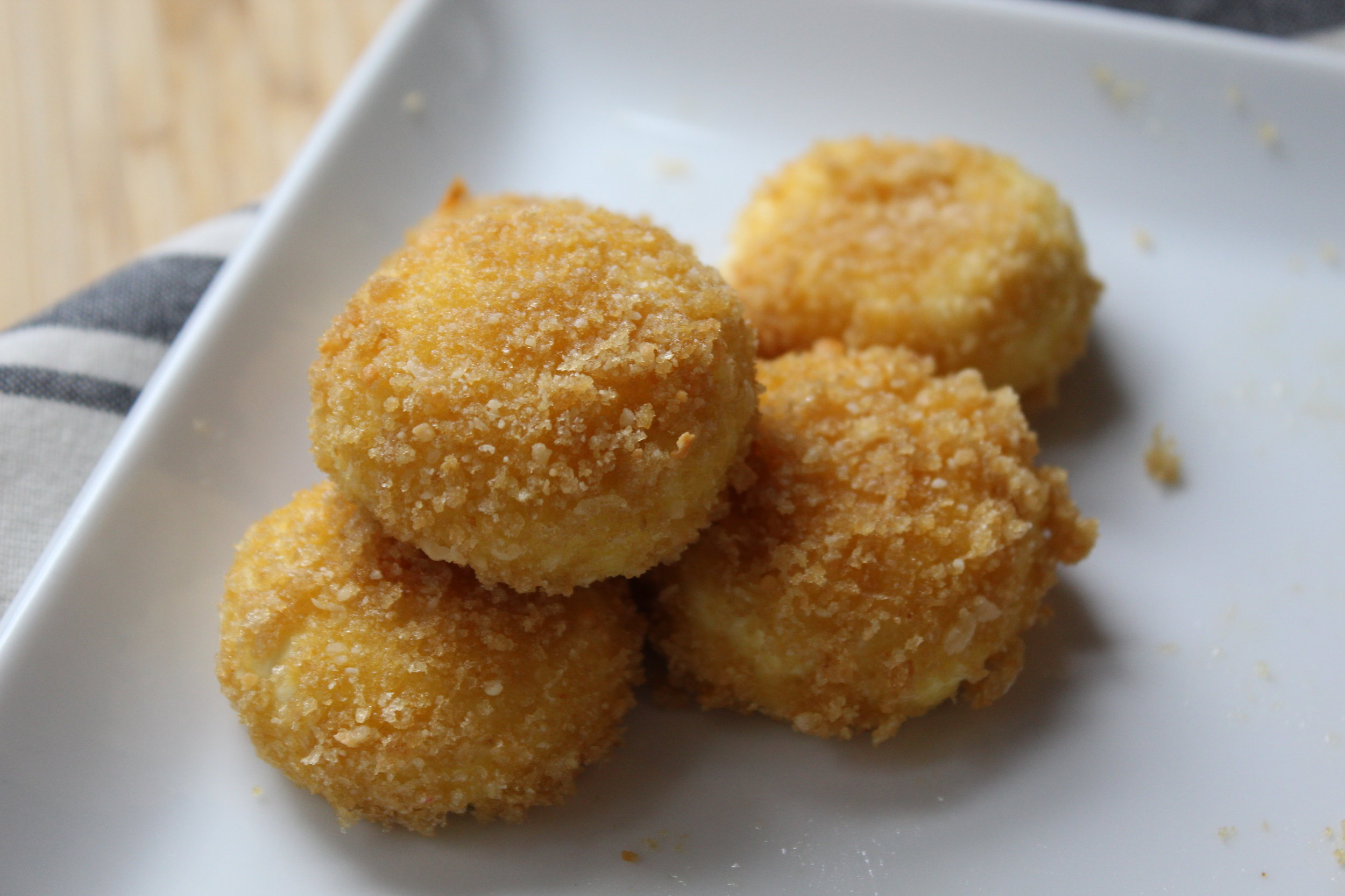 "- ""fried"" goat cheese"