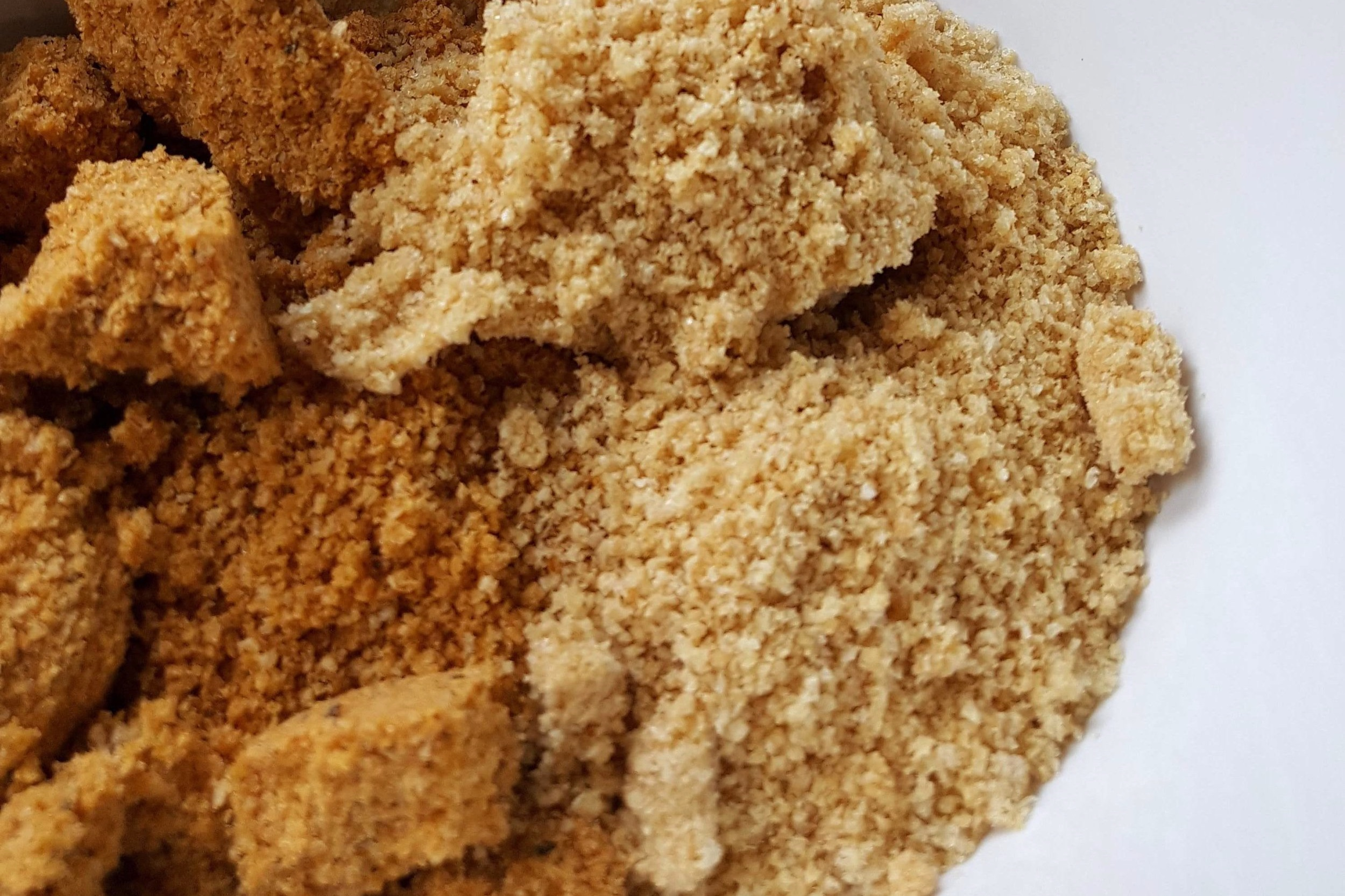 Half Spicy, half original pork rind bread crumbs.