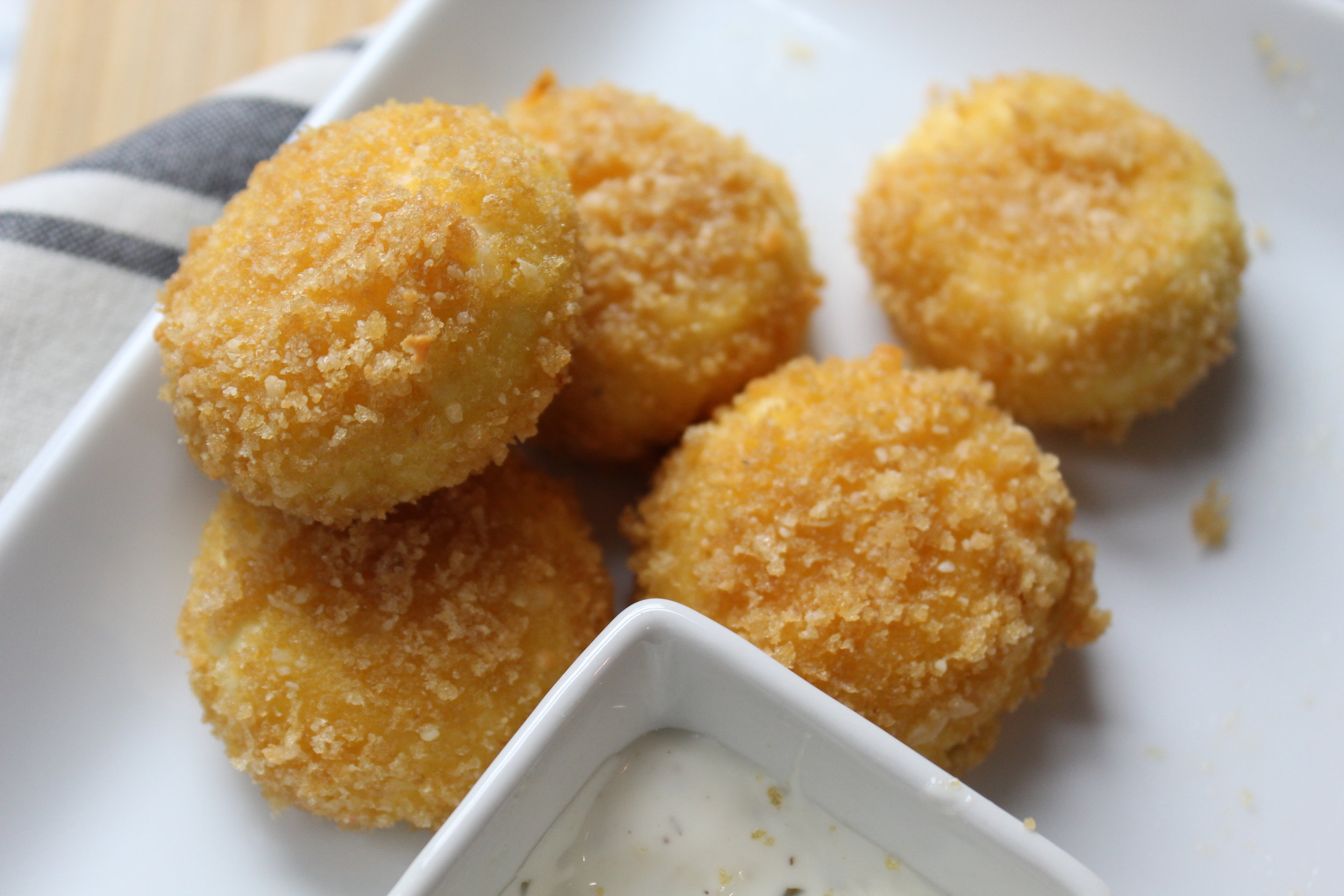 - fried goat cheese
