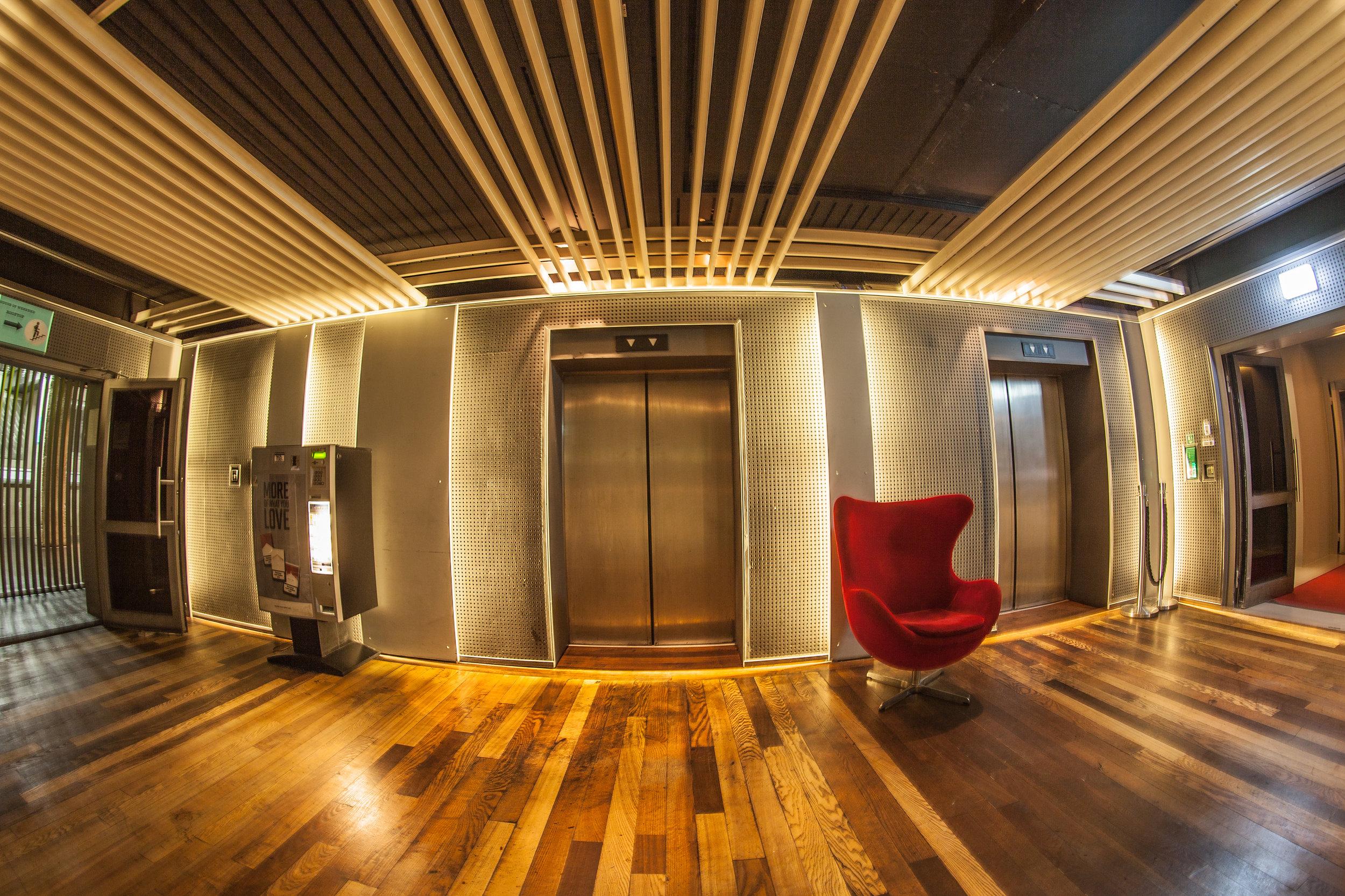 4 Elevators between the Club & Loft