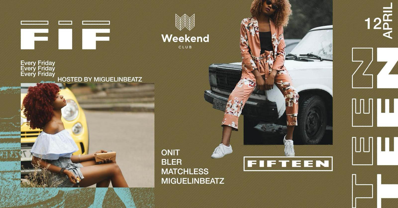 Fifteen hosted by MIguelinbeatz    We want to create a spot for people with open minded visions of music & fashion. An esthetic look is an essential step to treat your body like it deserved. Be curious - be a part. Every Friday finest Hip Hop with best local and international DJs.