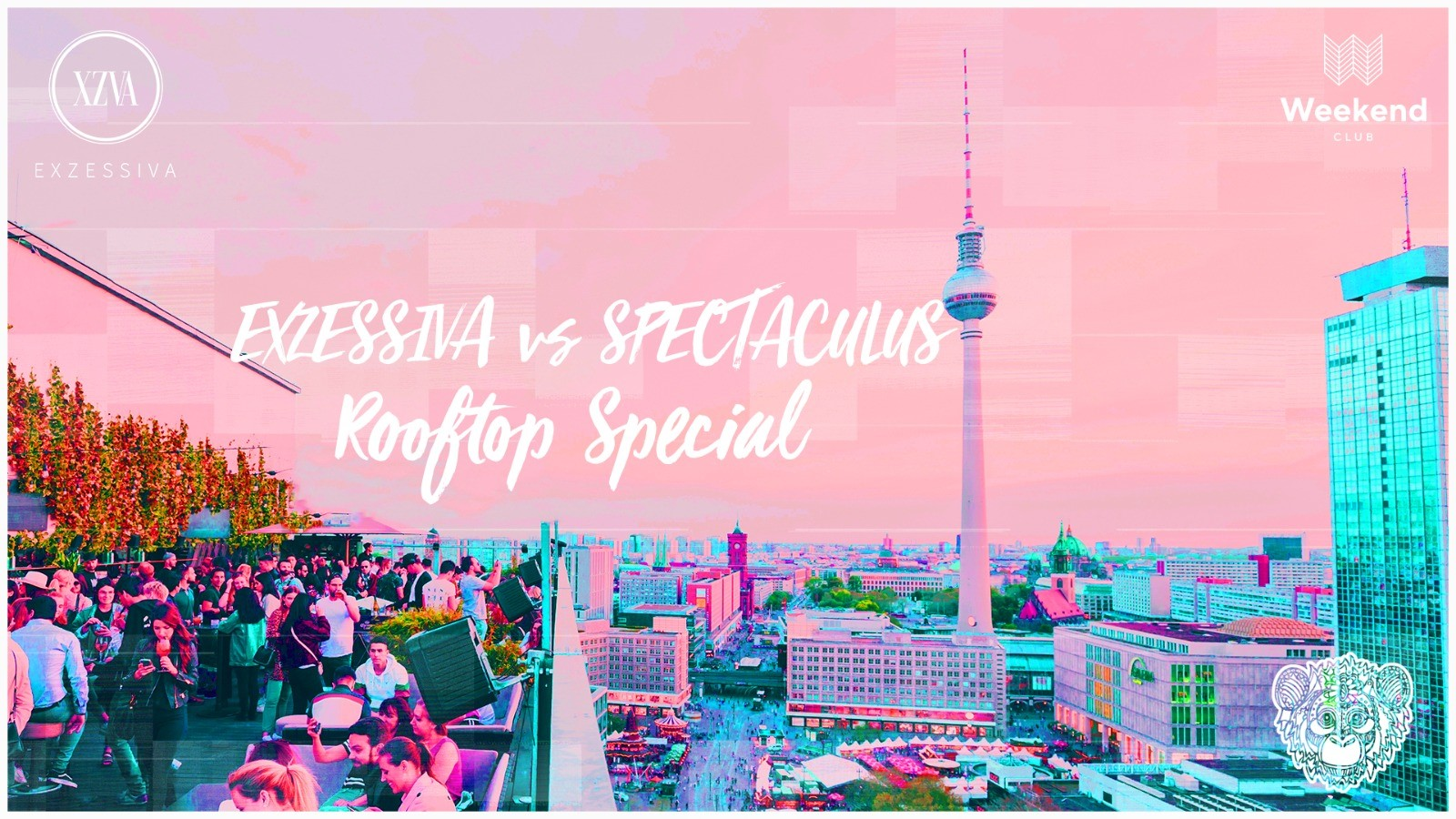 Exzessiva vs Spectaculus I Rooftop Special  One or none: The EXCESSIVA Party can only be THIS! Bass-heavy beats, champagne showers and excessive confetti shooters. This time we are teaming up with Leipzig's party label number 1 - Spectaculus, it will be even more excessive.