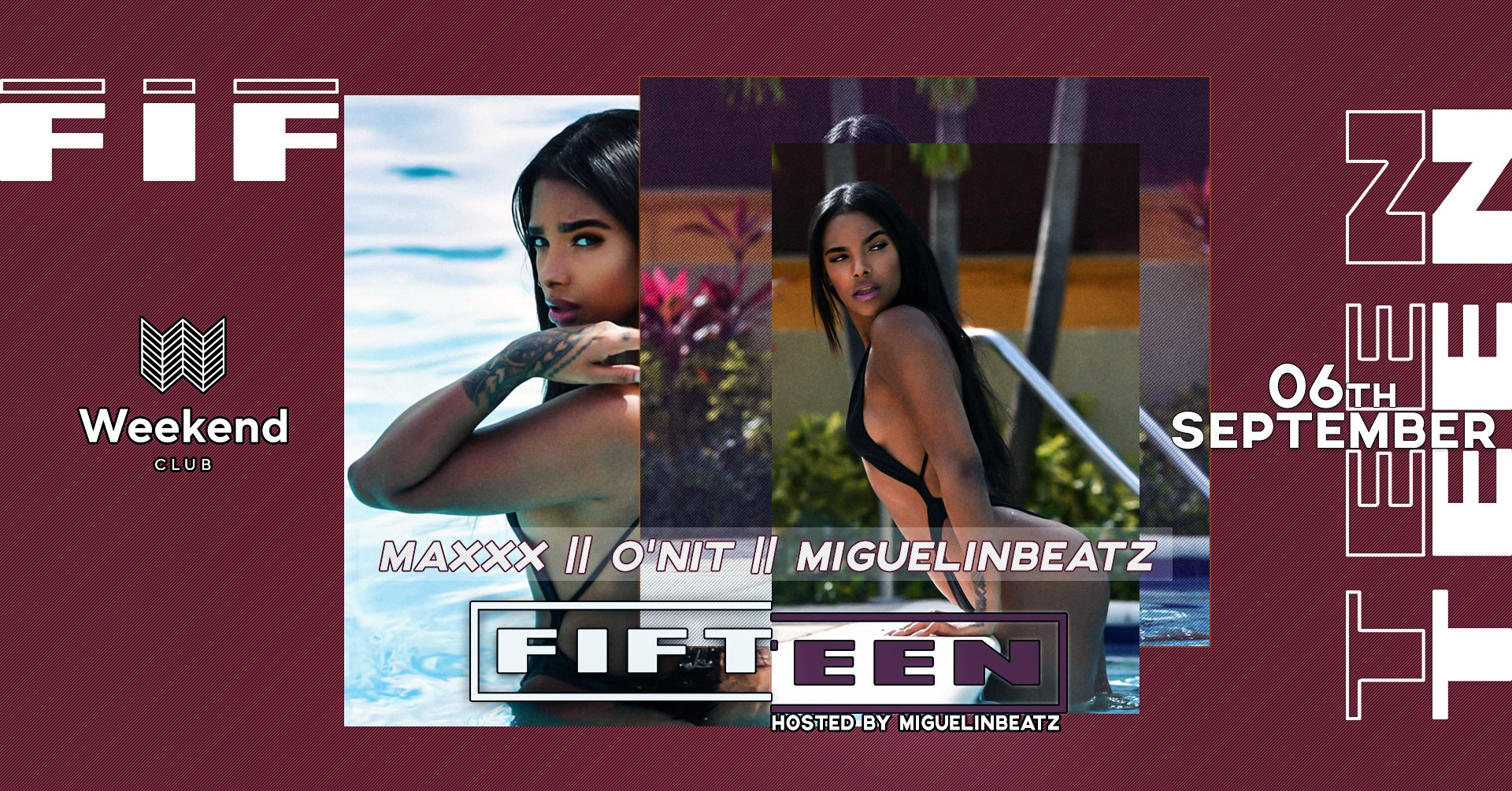 Fifteen hosted by Miguelinbeatz  We want to create a spot for people with open minded visions of music & fashion. An esthetic look is an essential step to treat your body like it deserved