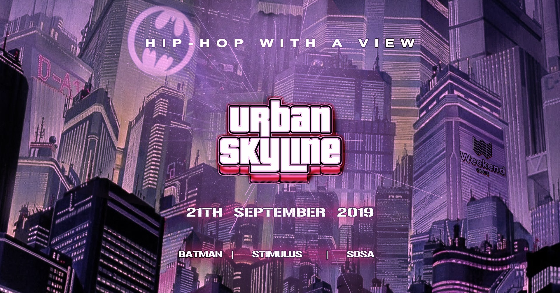 Urban Skyline Hip Hop with a view  We call it ,highest turn up in town'  Once a month we invite people to our Family & Friends meet up in our loving living room and they know what is expecting them. Greatest view over the City with bomb turn up vibes. We create an interaction with people on the dance floor and the DJ