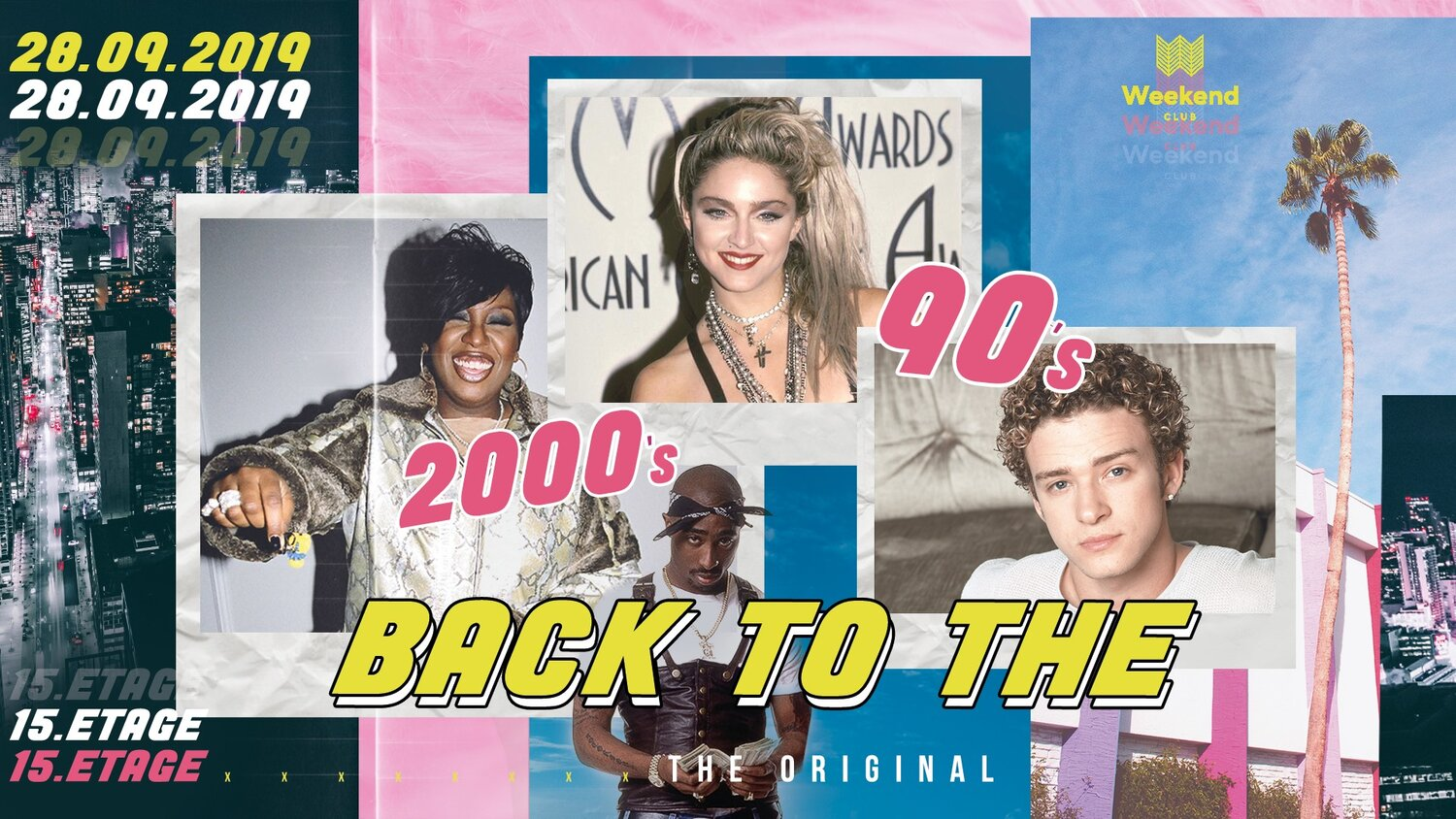 Back to the 90's - Big Season Opening  The best music decade is in the center! Always with an exceptional, international line up a unique atmosphere is guaranteed.  Let us take you on the journey through time and look forward to the best sounds and a unique view over the city