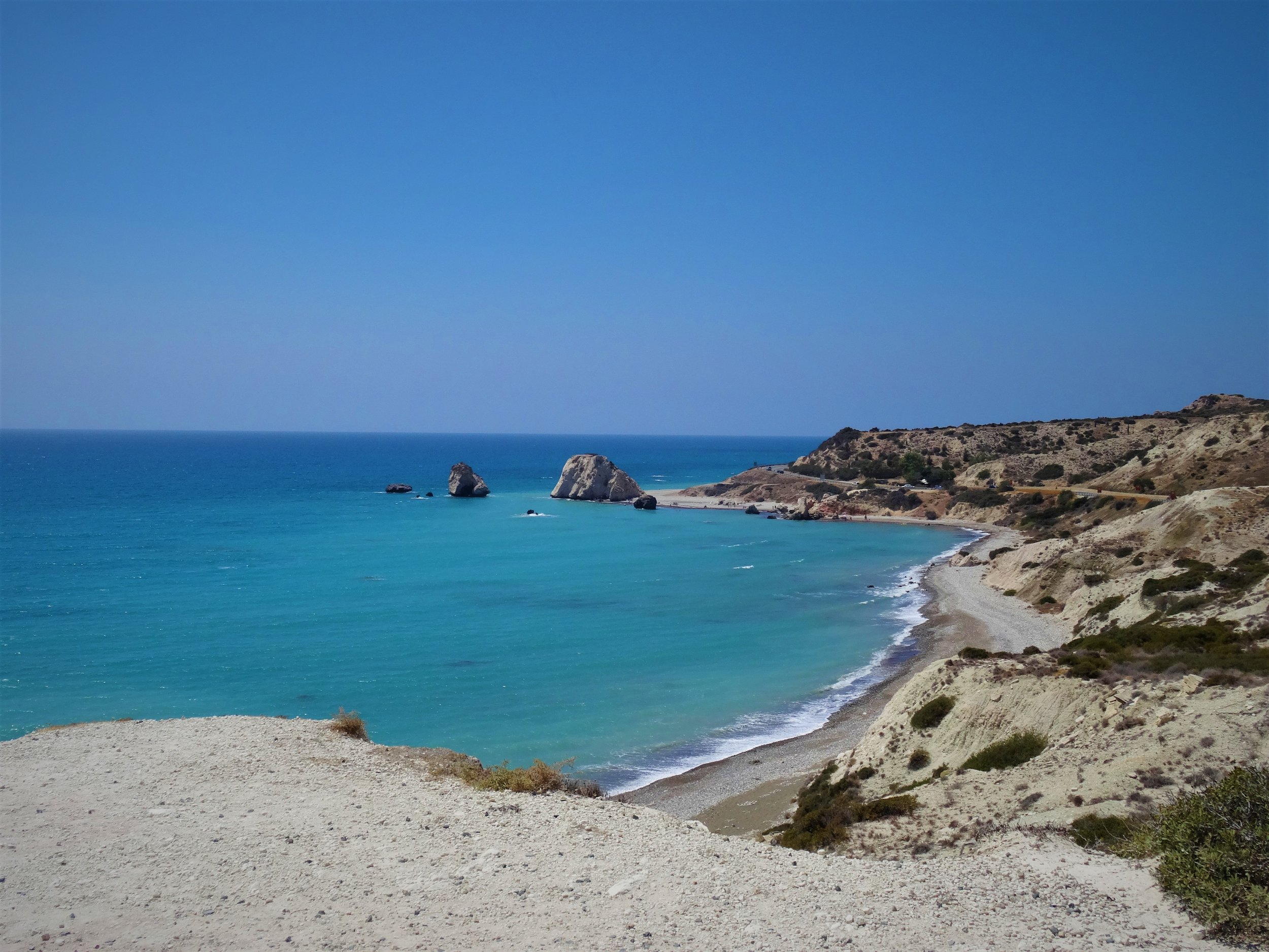 I live in Cyprus with my grandmother, in a small, rural village on the south coast. When I'm in Oxford I miss seeing the Mediterranean sea every day. Aphrodite's Rock is where legend says Aphrodite was born, rising from the sea to live on Cyprus. It's on the western side of the island, so we had a trip over there and I swam with sea turtles in the town we stayed in and got this photo on our way home.