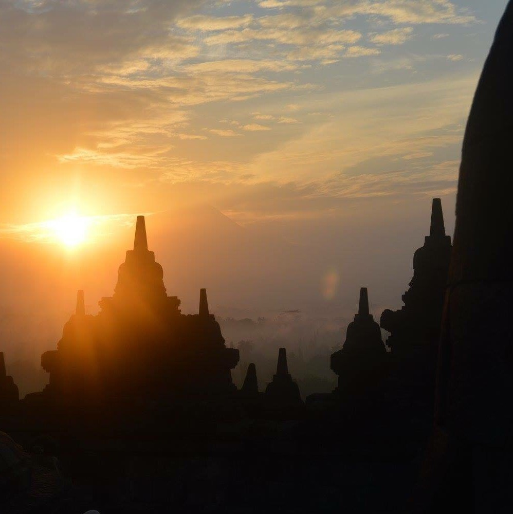 After a week of volunteering in a local school, my group and I hiked to a local temple and watched the sunrise over the iconic Indonesian architecture.