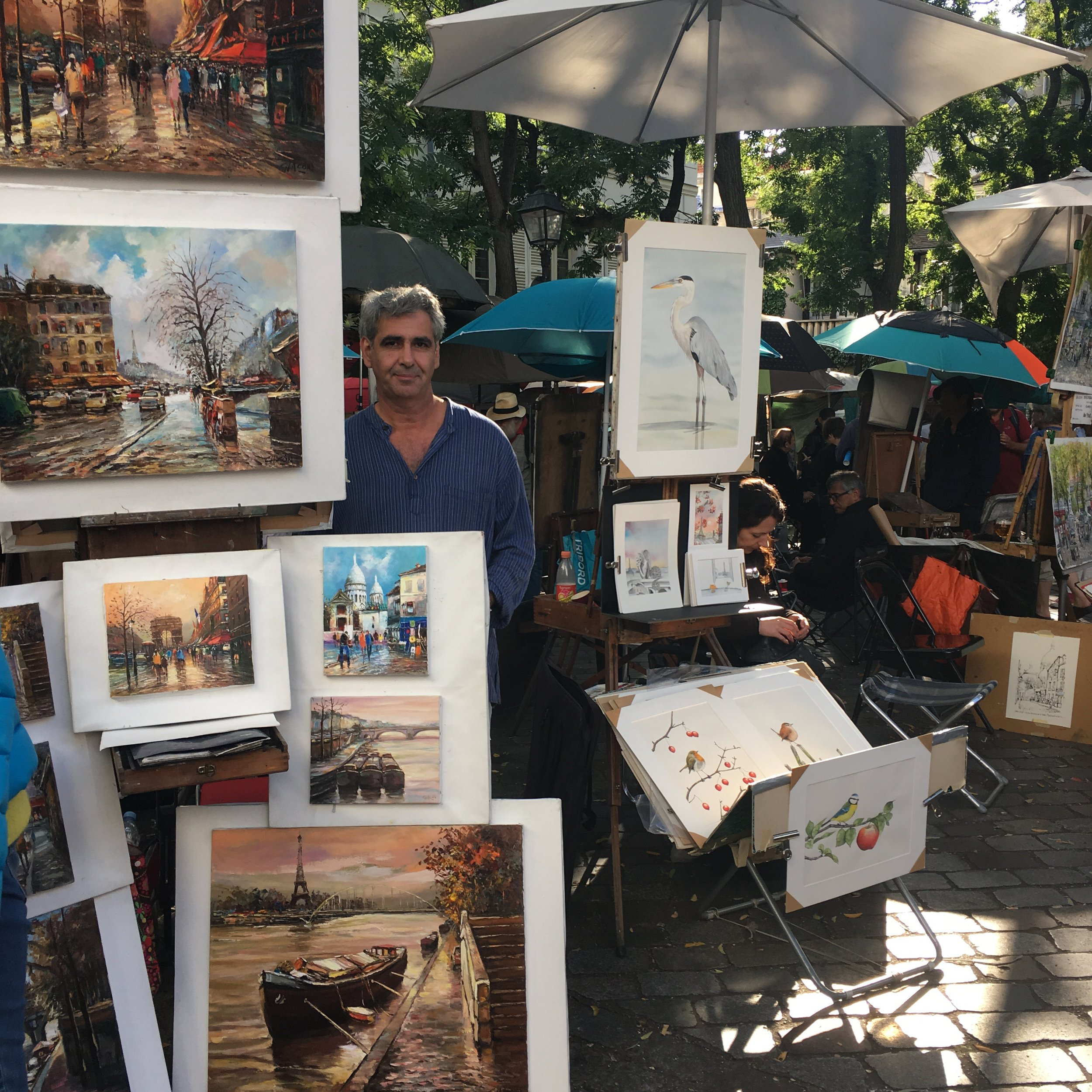 I was lucky enough to travel to Paris for my 18th birthday and enjoyed exploring the art quarter of Montmartre - there were so many talented performers, musicians, and artists.