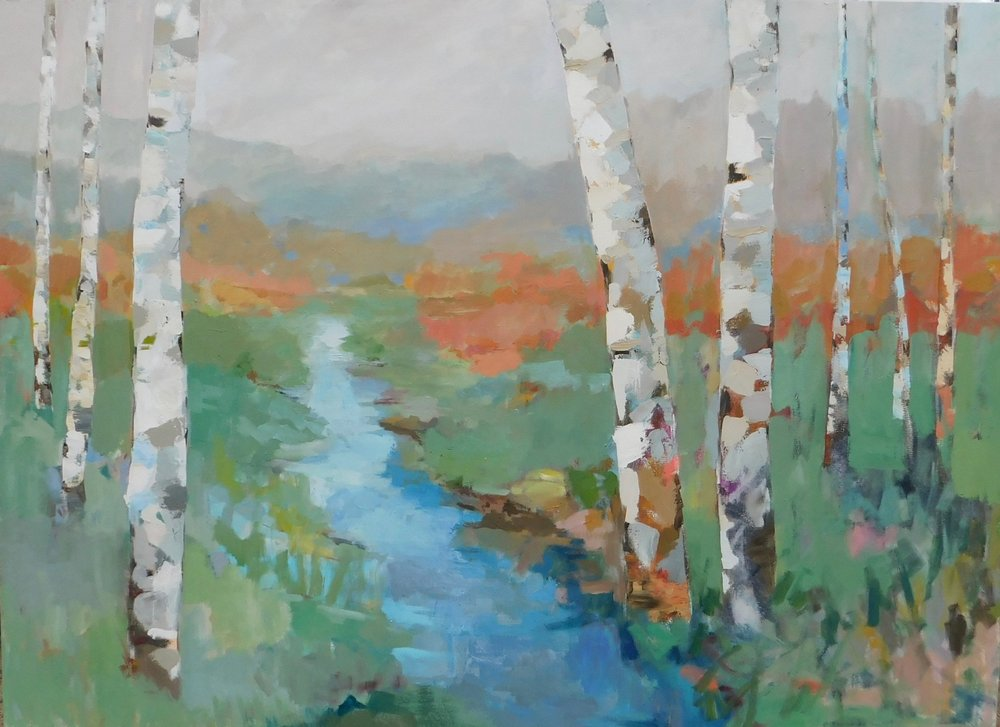 Stephanie Wheeler Abstract Lanscape Art