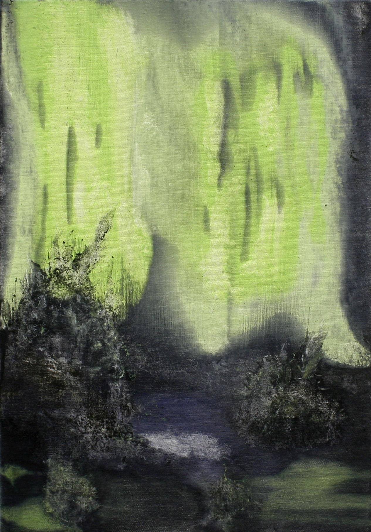'Irrlicht l'  Mixed-media on canvas  32 x 46cm  2016